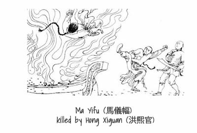 Ma Yifu killed by Hong Xiguan