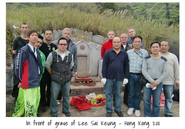 In front of grave Lee Sai Keung in 2011